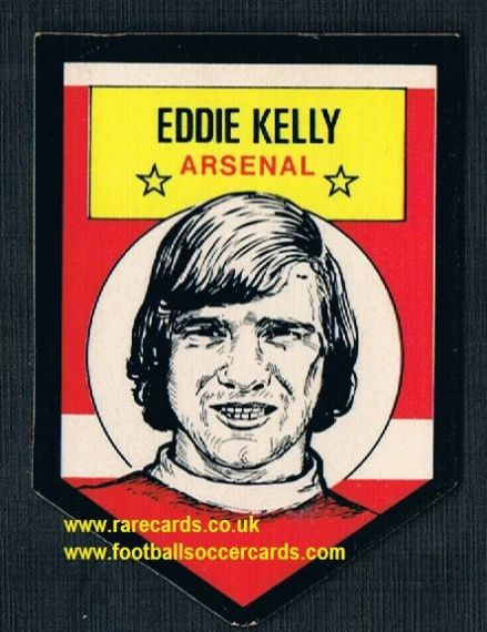 1972 BAB unused Shooting Stars Arsenal Eddie Kelly with backing paper